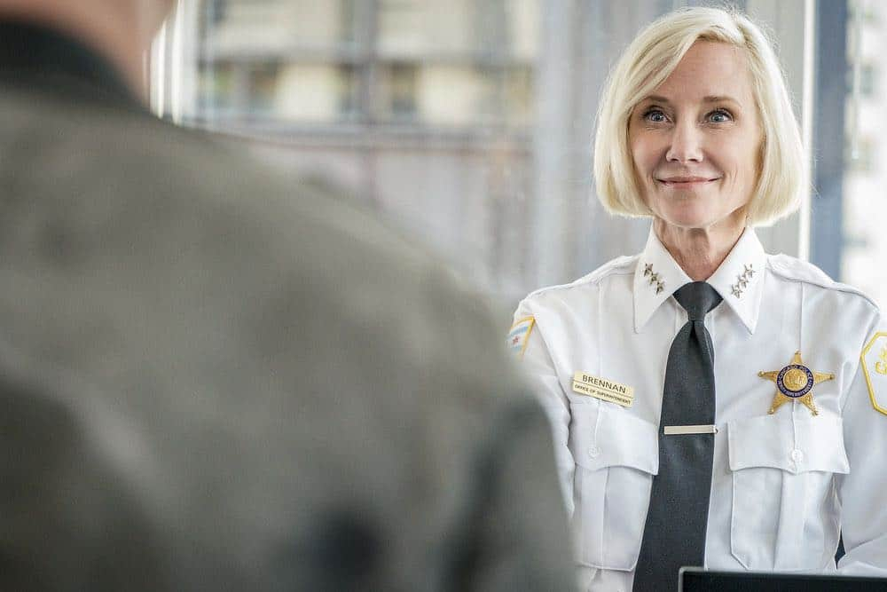 "CHICAGO P.D. -- ""New Normal"" Episode 601 -- Pictured: Anne Heche as Katherine Brennan -- (Photo by: Matt Dinerstein/NBC)"