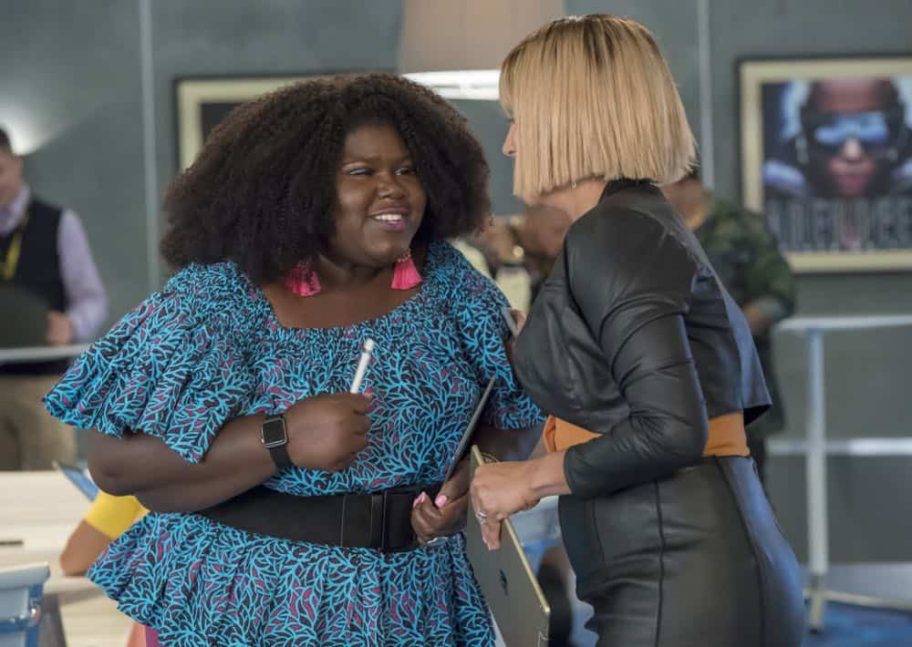 "EMPIRE: L-R: Gabourey Sidibe and Nicole Ari Parker in the ""Steal From the Thief"" Season Five premiere episode of EMPIRE airing Wednesday, September 26 (8:00-9:00 PM ET/PT) on FOX. @2018 Fox Broadcasting Co. CR: Chuck Hodes/FOX."