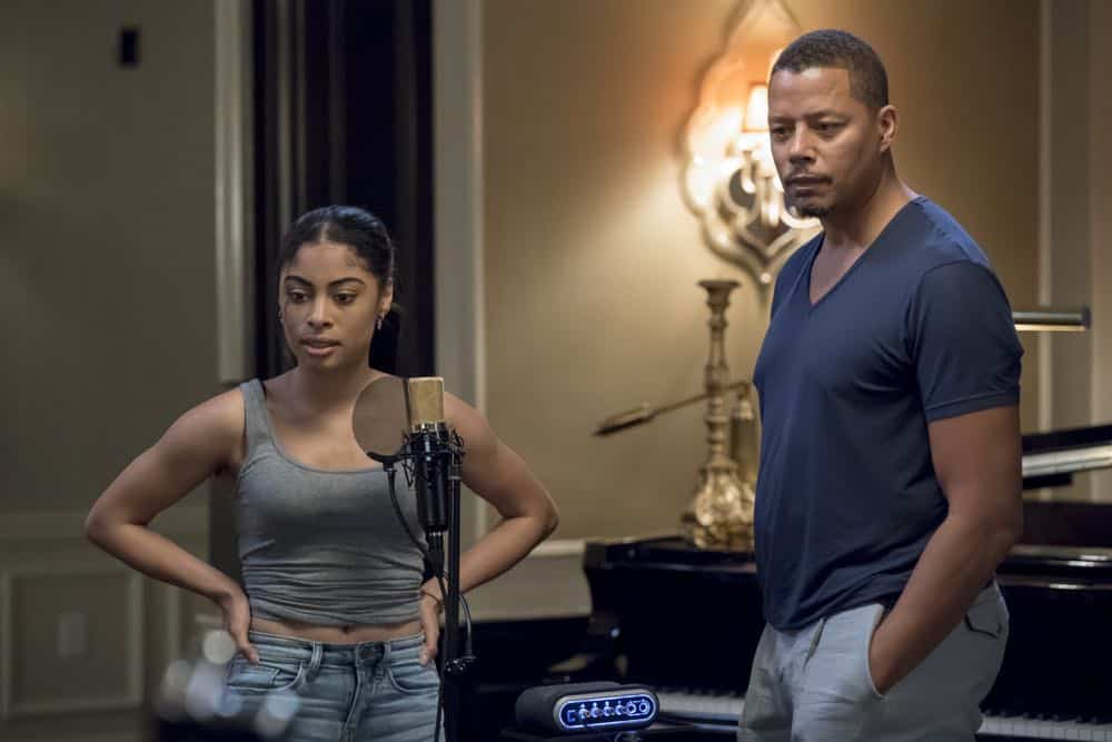 "EMPIRE: L-R: Katlynn Simone and Terrence Howard in the ""Steal From the Thief"" Season Five premiere episode of EMPIRE airing Wednesday, September 26 (8:00-9:00 PM ET/PT) on FOX. @2018 Fox Broadcasting Co. CR: Chuck Hodes/FOX."
