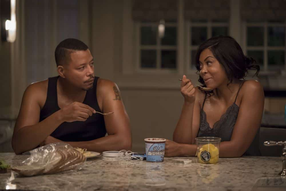 "EMPIRE: L-R: Terrence Howard and Taraji P. Henson in the ""Steal From the Thief"" Season Five premiere episode of EMPIRE airing Wednesday, September 26 (8:00-9:00 PM ET/PT) on FOX. @2018 Fox Broadcasting Co. CR: Chuck Hodes/FOX."