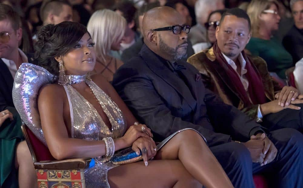 "EMPIRE: L-R: Taraji P. Henson, Forest Whitaker and Terrence Howard in the ""Steal From the Thief"" Season Five premiere episode of EMPIRE airing Wednesday, September 26 (8:00-9:00 PM ET/PT) on FOX. @2018 Fox Broadcasting Co. CR: Chuck Hodes/FOX."