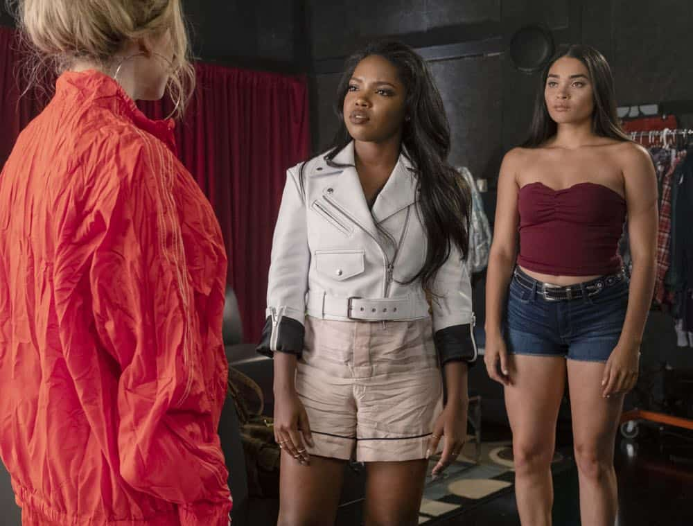 """STAR: L-R: Jude Demorest, Ryan Destiny and Brittany O'Grady in the """"Secrets & Lies"""" Season Three premiere of STAR airing Wednesday, Sept. 26 (9:00-10:00 PM ET/PT) on FOX. ©2018 Fox Broadcasting Co. CR: Wilford Harewood/FOX"""
