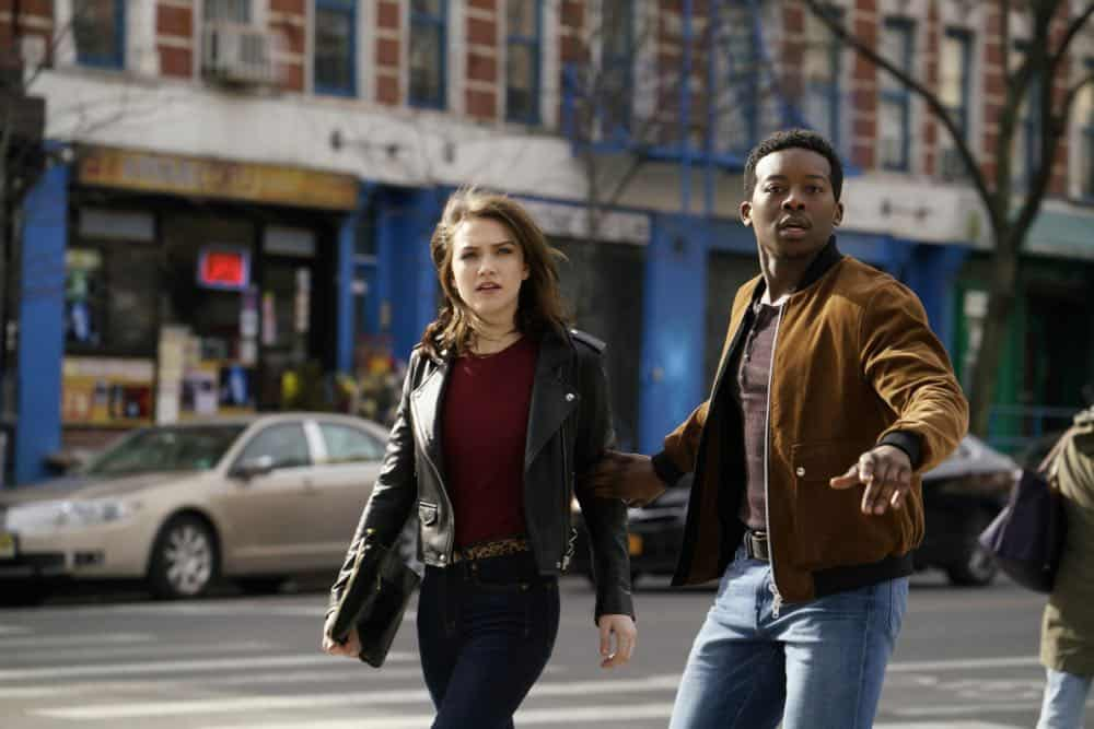 GOD FRIENDED ME stars Brandon Micheal Hall in a humorous, uplifting drama about Miles Finer (Hall), an outspoken atheist whose life is turned upside down when he receives a friend request on social media from God and unwittingly becomes an agent of change in the lives and destinies of others around him. GOD FRIENDED ME will premiere this fall on Sunday, Sept. 30, 8:30-9:30 PM ET/PT on the CBS Television Network. Pictured L to R: Violett Beane as Cara Weiss and Brandon Micheal Hall as Miles Finer. Photo: Jonathan Wenk/CBS©2018 CBS Broadcasting, Inc. All Rights Reserved