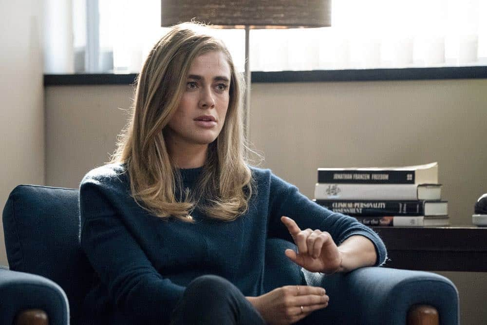 "MANIFEST -- ""Reentry"" Episode 102 -- Pictured: Melissa Roxburgh as Michaela Stone -- (Photo by: Virginia Sherwood/NBC)"