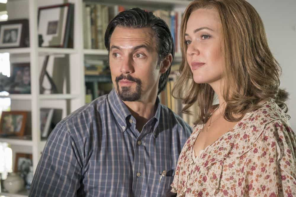 "THIS IS US -- ""A Philadelphia Story"" Episode 302 -- Pictured: (l-r) Milo Ventimiglia as Jack Pearson, Mandy Moore as Rebecca Pearson -- (Photo by: Ron Batzdorff/NBC)"