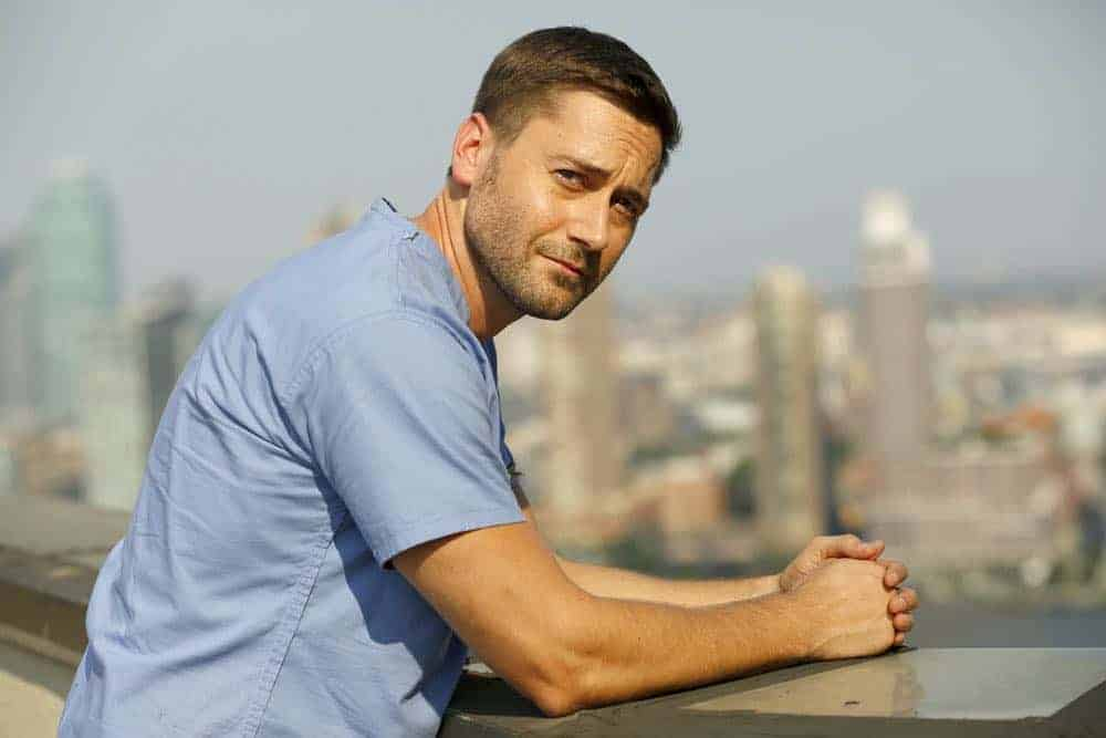 "NEW AMSTERDAM -- ""Rituals"" Episode 102 -- Pictured: Ryan Eggold as Dr. Max Goodwin -- (Photo by: Will Hart/NBC)"