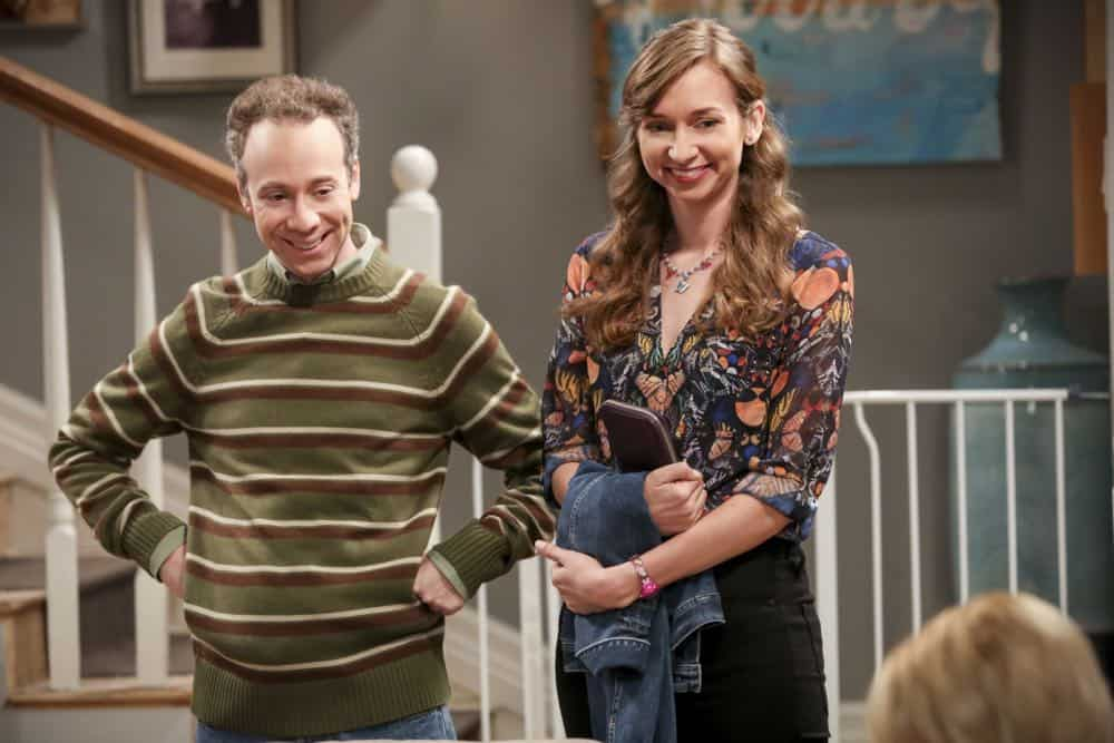 "The Big Bang Theory ""The Procreation Calculation"" -- Pictured: Stuart (Kevin Sussman) and Denise (Lauren Lapkus)."