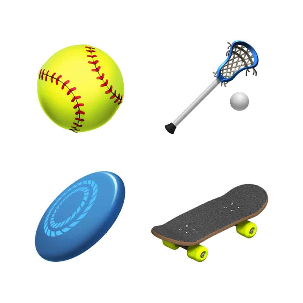 ios 121 emoji update softball lacrosse frizbee skateboard 10012018