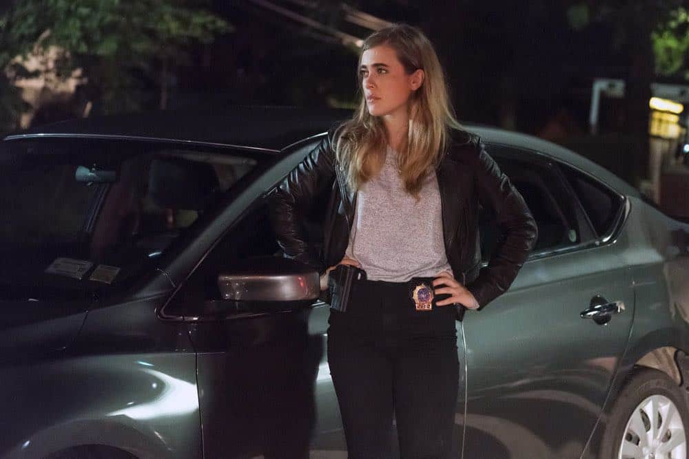 "MANIFEST -- ""Turbulence"" Episode 103 -- Pictured: Melissa Roxburgh as Michaela Stone -- (Photo by: Barbara Nitke/NBC/Warner Brothers)"