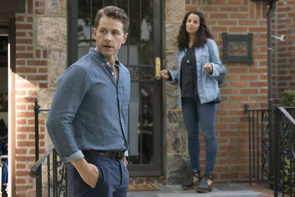 "MANIFEST -- ""Turbulence"" Episode 103 -- Pictured: (l-r) Josh Dallas as Ben Stone, Athena Karkanis as Grace Stone -- (Photo by: Barbara Nitke/NBC/Warner Brothers)"