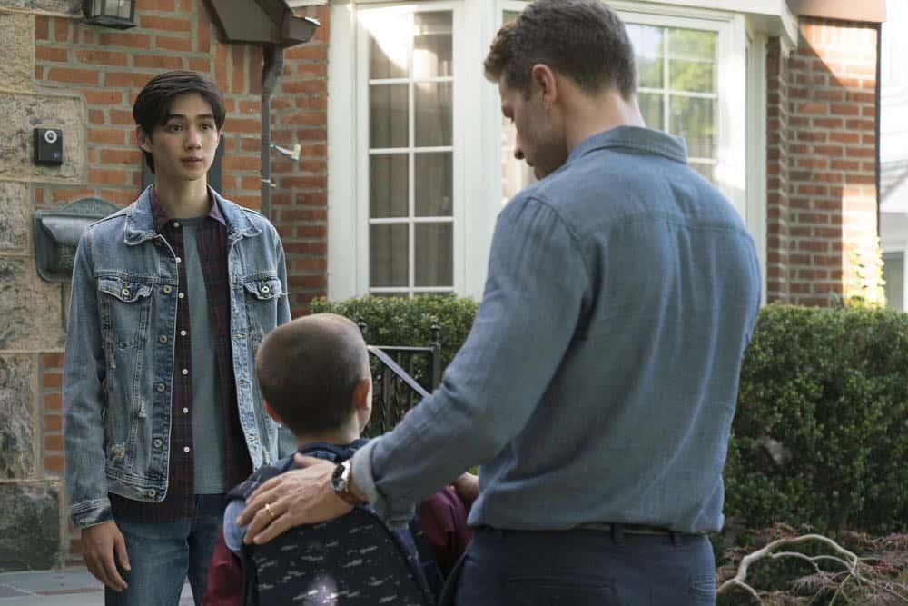 "MANIFEST -- ""Turbulence"" Episode 103 -- Pictured: (l-r) Sean Kaufman as Kevin, Josh Dallas as Ben Stone -- (Photo by: Barbara Nitke/NBC/Warner Brothers)"