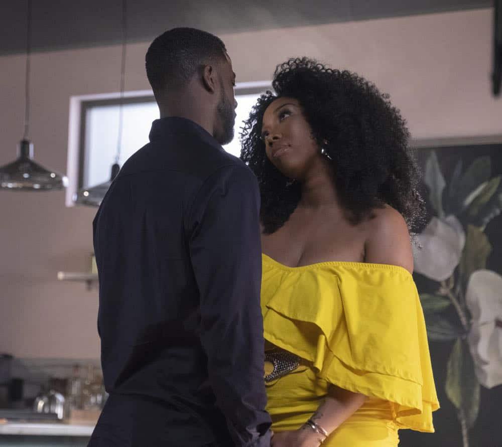 "STAR: L-R: Guest star Lance Gross and Brandy Norwood in the ""Who's The Daddy"" Season Three episode of STAR airing Wednesday, October 3 (9:00-10:00 PM ET/PT) on FOX. ©2018 Fox Broadcasting Co. CR: Wilford Harewood/FOX"