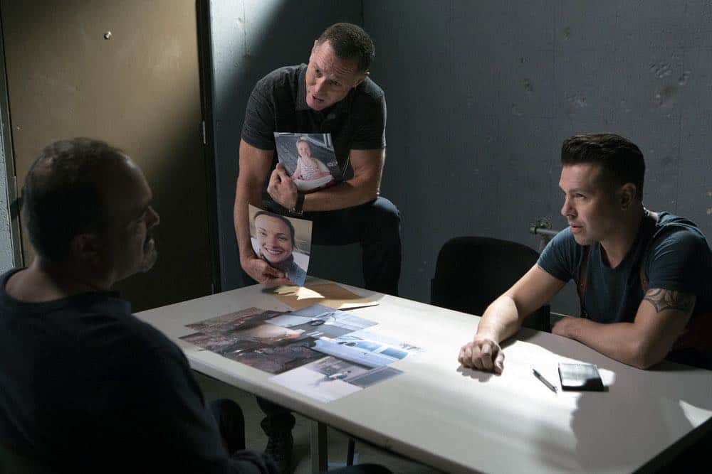 "CHICAGO P.D. -- ""Endings"" Episode 603 -- Pictured: (l-r) Jason Beghe as Hank Voight, Jon Seda as Antonio Dawson -- (Photo by: Adrian Burrows/NBC)"