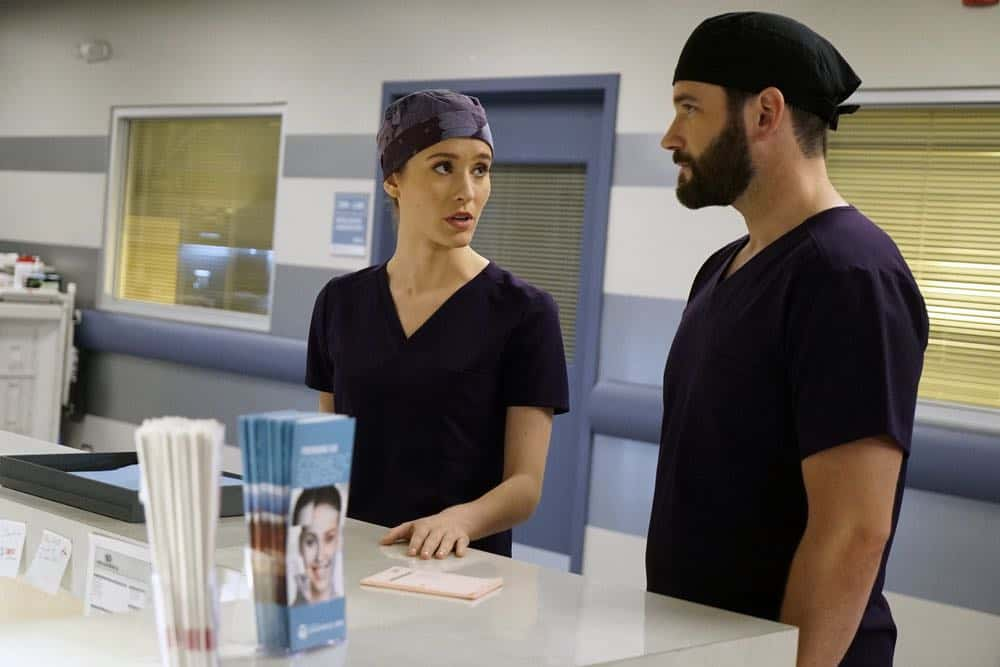 "CHICAGO MED -- ""When To Let Go"" Episode 402 -- Pictured: (l-r) Torrey DeVitto as Natalie Manning, Colin Donnell as Connor Rhodes -- (Photo by: Elizabeth Sisson/NBC)"