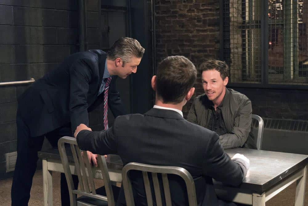 "LAW & ORDER: SPECIAL VICTIMS UNIT -- ""Zero Tolerance"" Episode 2002 -- Pictured: (l-r) Peter Scanavino as Dominick ""Sonny"" Carisi, Shane Patrick Kearns as Luke Frances -- (Photo by: Barbara Nitke/NBC)"