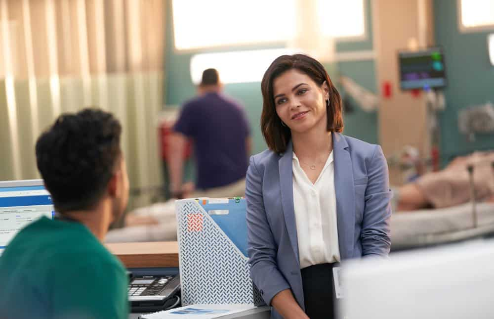 "THE RESIDENT:  Guest star Jenna Dewan in the ""Three Words"" episode of THE RESIDENT airing Monday, Oct. 1 (8:00-9:00 PM ET/PT) on FOX. ©2018 Fox Broadcasting Co. Cr:  Bob Mahoney/FOX."