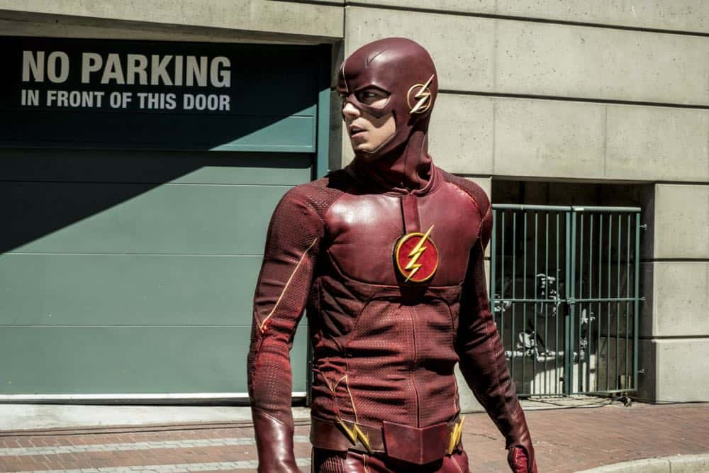 "The Flash -- ""Nora"" -- Image Number: FLA501b_0031b.jpg -- Pictured: Grant Gustin as The Flash -- Photo: Katie Yu/The CW -- © 2018 The CW Network, LLC. All rights reserved"