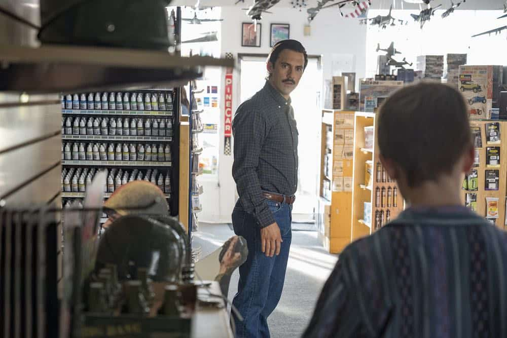 "THIS IS US -- ""Katie Girls"" Episode 303 -- Pictured: Milo Ventimiglia as Jack -- (Photo by: Ron Batzdorff/NBC)"