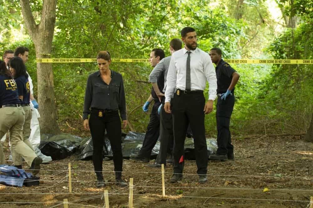 """Prey"" -- Special Agent Maggie Bell, Special Agent OA Zidan and the team investigate the murders of 18 young women with help from a survivor associated with the deceased, on FBI, Tuesday, Oct. 9 (9:00-10:00 PM, ET/PT) on the CBS Television Network. Pictured: Missy Peregrym, Zeeko Zaki Photo: Jeffrey Neira/CBS ©2018 CBS Broadcasting, Inc. All Rights Reserved"