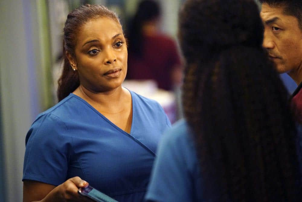 "CHICAGO MED -- ""Heavy Is The Head"" Episode 403 -- Pictured: Marlyne Barrett as Maggie Lockwood -- (Photo by: Elizabeth Sisson/NBC)"