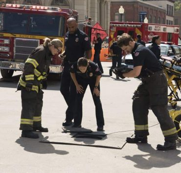 """STATION 19 - """"Under The Surface"""" - It's a life-and-death situation when a young boy falls into water pipes beneath the city of Seattle. With the clock ticking, the firefighters of Station 19 jump into action to save his life, on ABC's """"Station 19,"""" THURSDAY, OCT. 11 (9:01-10:00 p.m. EDT), on The ABC Television Network. (ABC/Eric McCandless) BORIS KODJOE, JAINA LEE ORTIZ, GREY DAMON"""