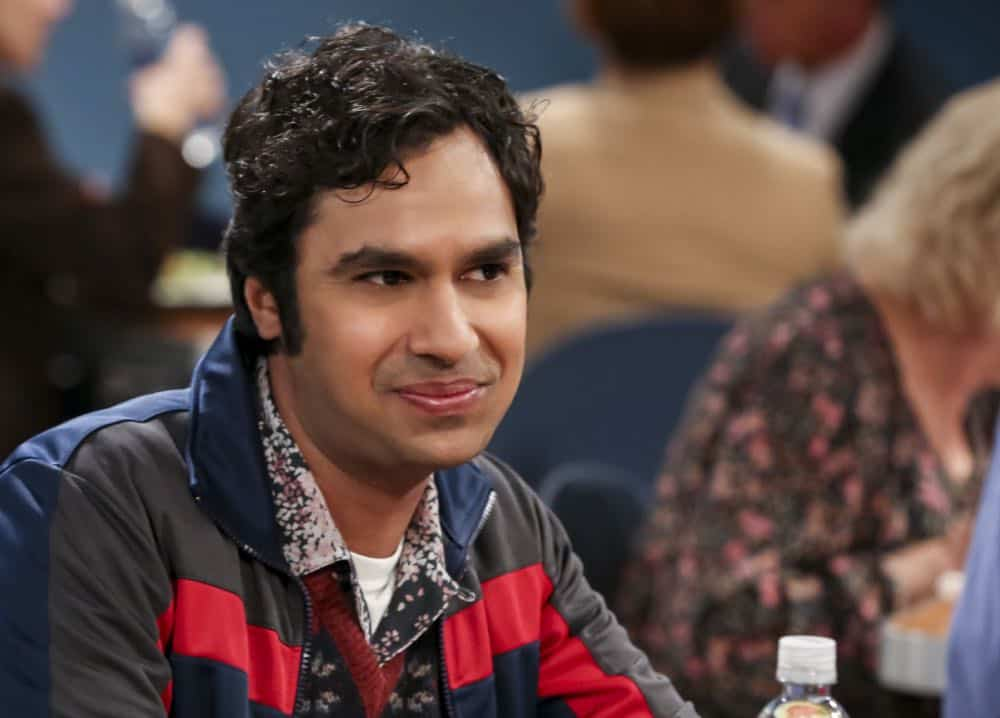 """The Tam Turbulence"" -- Pictured: Rajesh Koothrappali (Kunal Nayyar). When Sheldon won't tell anyone why he's never mentioned Tam (Robert Wu), his childhood best friend, Leonard takes matters into his own hands. Also, Bernadette and Penny take out Raj's fiancée, Anu (Rati Gupta), for dinner to get the skinny on her, on THE BIG BANG THEORY, Thursday, Oct. 11 (8:00-8:31 PM, ET/PT) on the CBS Television Network. Jerry O'Connell returns as Sheldon's brother, George. Photo: Michael Yarish/CBS ©2018 CBS Broadcasting, Inc. All Rights Reserved."