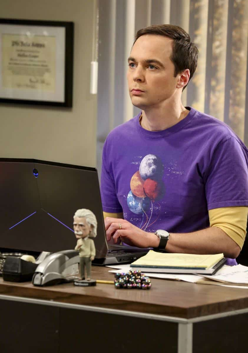 """The Tam Turbulence"" -- Pictured: Sheldon Cooper (Jim Parsons). When Sheldon won't tell anyone why he's never mentioned Tam (Robert Wu), his childhood best friend, Leonard takes matters into his own hands. Also, Bernadette and Penny take out Raj's fiancée, Anu (Rati Gupta), for dinner to get the skinny on her, on THE BIG BANG THEORY, Thursday, Oct. 11 (8:00-8:31 PM, ET/PT) on the CBS Television Network. Jerry O'Connell returns as Sheldon's brother, George. Photo: Michael Yarish/CBS ©2018 CBS Broadcasting, Inc. All Rights Reserved."
