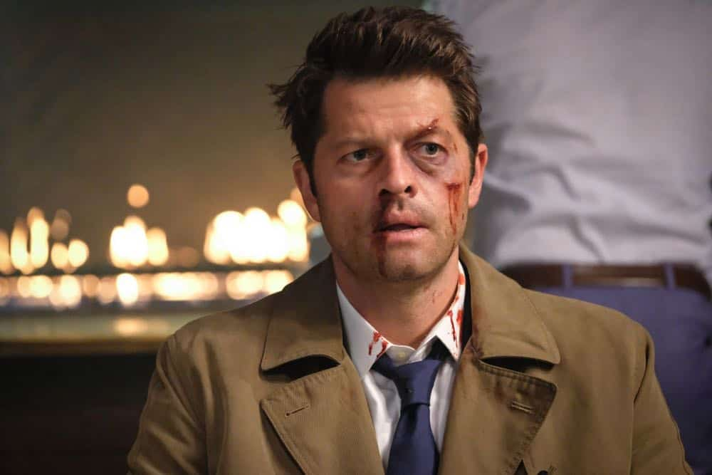 """Supernatural -- """"Stranger in a Strange Land"""" -- Image Number: SN1401b_0153b.jpg -- Pictured: Misha Collins as Castiel -- Photo: Bettina Strauss/The CW -- © 2018 The CW Network, LLC All Rights Reserved"""