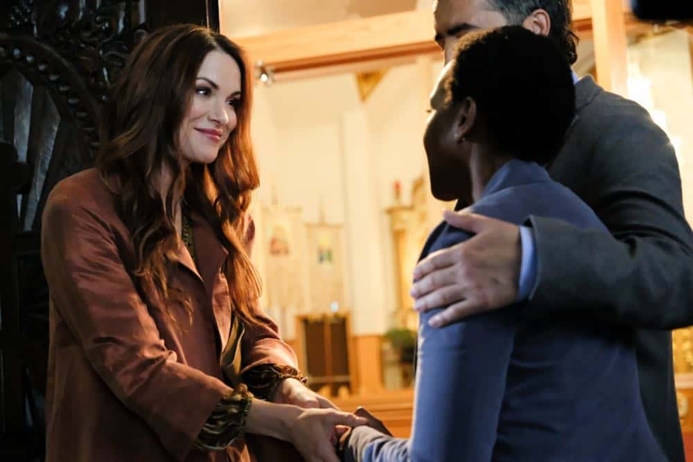 """Supernatural -- """"Stranger in a Strange Land"""" -- Image Number: SN1401a_0069b.jpg -- Pictured: Danneel Ackles as Anael -- Photo: Bettina Strauss/The CW -- © 2018 The CW Network, LLC All Rights Reserved"""