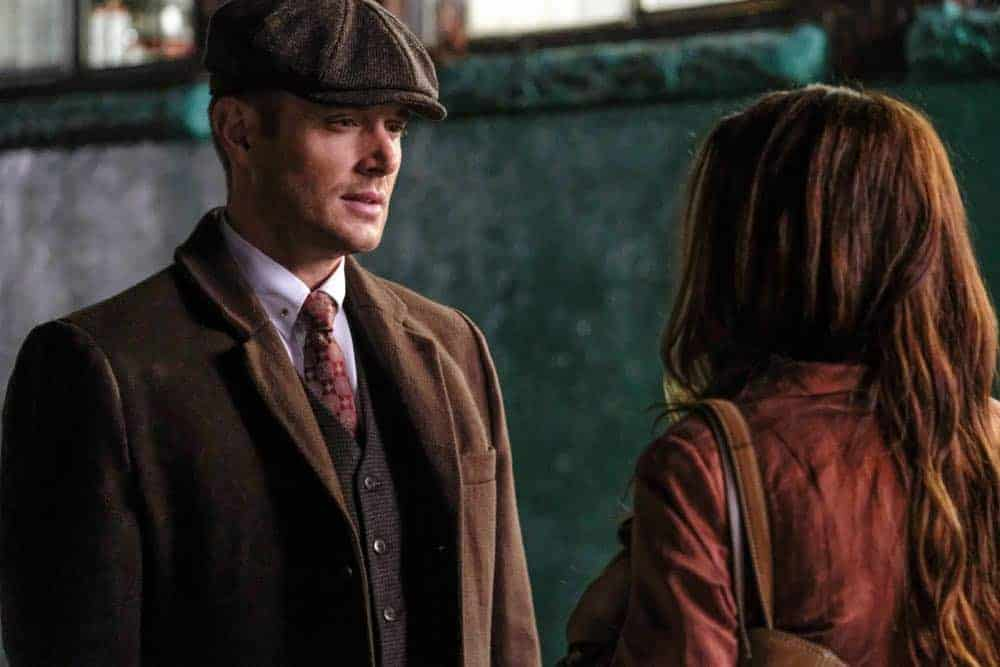 """Supernatural -- """"Stranger in a Strange Land"""" -- Image Number: SN1401a_0211b.jpg -- Pictured (L-R): Jensen Ackles as Dean/Michael and Danneel Ackles as Anael -- Photo: Bettina Strauss/The CW -- © 2018 The CW Network, LLC All Rights Reserved"""