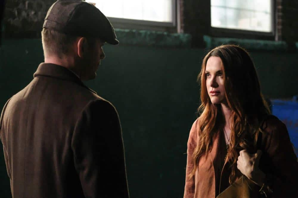 "Supernatural -- ""Stranger in a Strange Land"" -- Image Number: SN1401a_0345b.jpg -- Pictured (L-R): Jensen Ackles as Dean/Michael and Danneel Ackles as Anael -- Photo: Bettina Strauss/The CW -- © 2018 The CW Network, LLC All Rights Reserved"