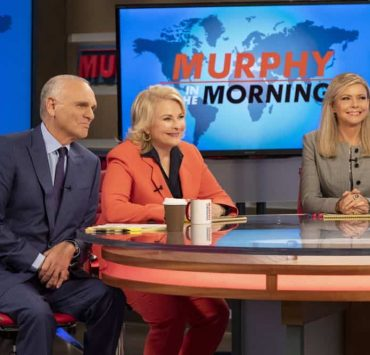"""Murphy Too"" -- After attending a sexual harassment seminar for the ""Murphy in the Morning"" staff, Murphy is surprised to find herself reeling from the long-repressed memory of her own #MeToo moment, on MURPHY BROWN, Thursday, Oct. 11 (9:30-10:00 PM, ET/PT) on the CBS Television Network. Pictured L-R: Joe Regalbuto as Frank Fontana, Candice Bergen as Murphy Brown, and Faith Ford as Corky Sherwood Photo Credit: David Giesbrecht/© 2018 Warner Bros. Entertainment Inc. All Rights Reserved"