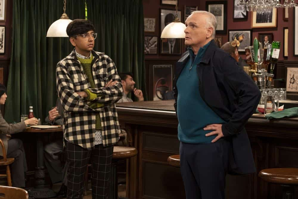 """""""Murphy Too""""  -- After attending a sexual harassment seminar for the """"Murphy in the Morning"""" staff, Murphy is surprised to find herself reeling from the long-repressed memory of her own #MeToo moment, on MURPHY BROWN, Thursday, Oct. 11 (9:30-10:00 PM, ET/PT) on the CBS Television Network. Pictured L-R: Nik Dodani as Pat Patel and Joe Regalbuto as Frank Fontana Photo Credit: David Giesbrecht/© 2018 Warner Bros. Entertainment Inc.  All Rights Reserved"""