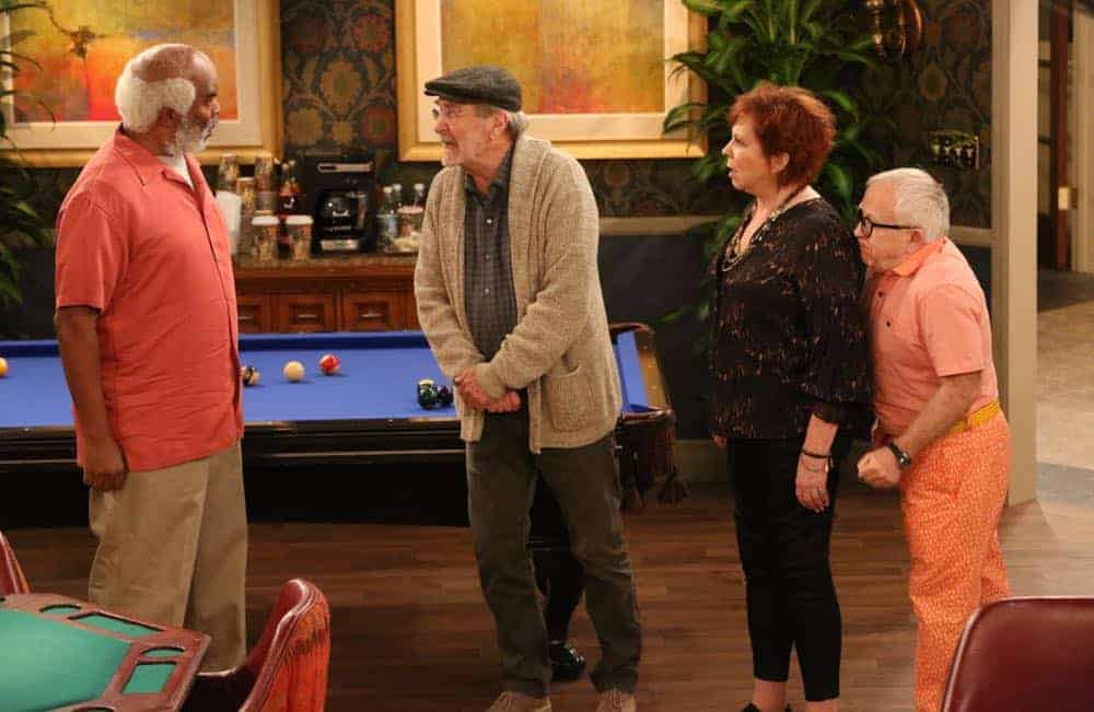 "THE COOL KIDS: L-R: David Alan Grier, Martin Mull, Vicki Lawrence and Leslie Jordan in the ""A Date With Destiny"" episode of THE COOL KIDS airing Friday, Oct. 12 (8:30-9:00 PM ET/PT) on FOX. ©2018 Fox Broadcasting Co. Cr: Patrick McElhenney/FOX"