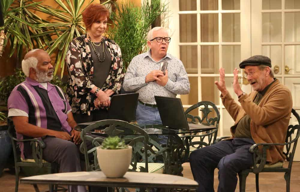 "THE COOL KIDS: L-R: David Alan Grier, Vicki Lawrence, Leslie Jordan and Martin Mull in the ""A Date With Destiny"" episode of THE COOL KIDS airing Friday, Oct. 12 (8:30-9:00 PM ET/PT) on FOX. ©2018 Fox Broadcasting Co. Cr: Patrick McElhenney/FOX"