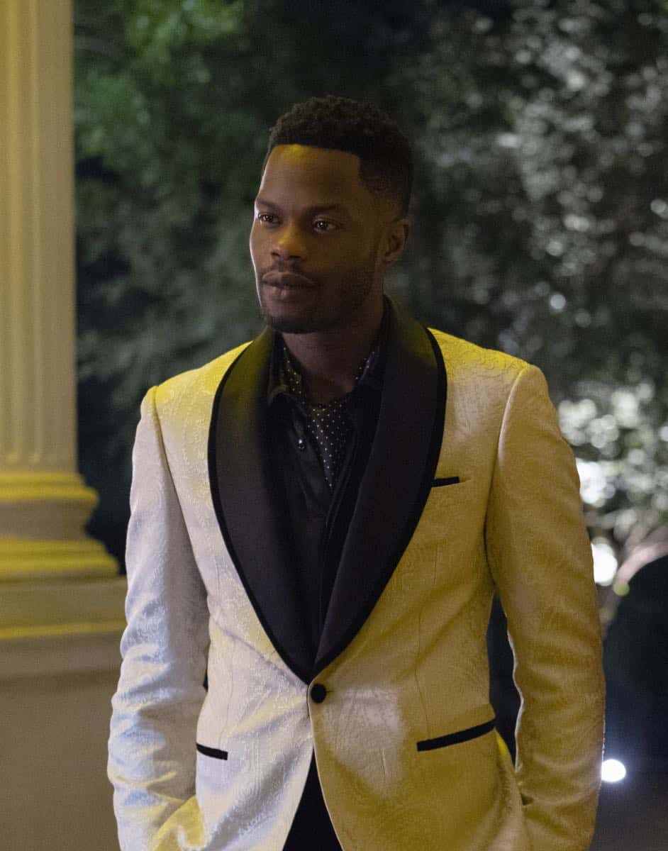 "Dynasty -- ""Twenty-Three Skidoo""-- Image Number: DYN201a_0462.jpg -- Pictured: Sam Adegoke as Jeff -- Photo: Wilford Harewood/The CW -- © 2018 The CW Network, LLC. All Rights Reserved"