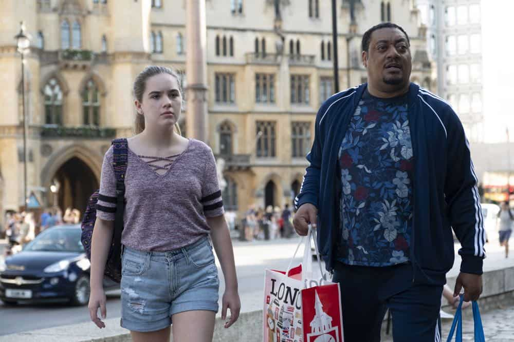 "SPEECHLESS - ""L-O-N-- LONDON (Part 2)"" - Maya must choose between asking her father for money to save their house and a lasting relationship with him. Ray strives to bond with his new British family, only to discover Dylan's the one with a surprising connection. Meanwhile, JJ shows Kenneth a good time off-the-clock, and Jimmy inadvertently finds love, on ""Speechless,"" FRIDAY, OCT. 12 (8:30-9:00 p.m. EDT), as part of the new TGIF programming block on The ABC Television Network. (ABC/Angus Young)"