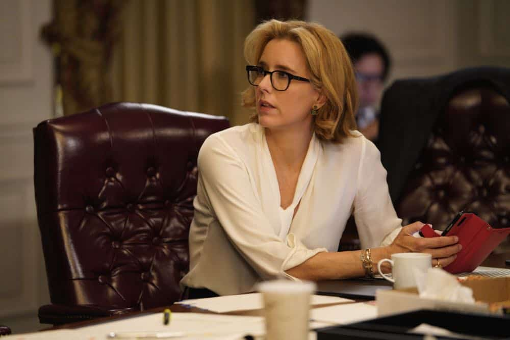 """The Chaos Game"" -- When Elizabeth discovers that the White House attackers had support from overseas, she tries to hunt down those responsible without starting a war. Also, Henry comes face to face with one of the attackers, on MADAM SECRETARY, Sunday, Oct. 14 (10:30-11:30 PM, ET/10:00-11:00 PM, PT) on the CBS Television Network. Pictured Téa Leoni as Elizabeth McCord. Photo: Sarah Shatz/CBS©2018 CBS Broadcasting, Inc. All Rights Reserved"
