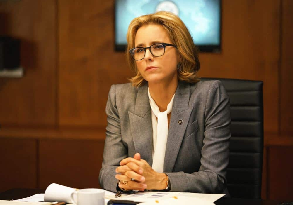 """The Chaos Game"" -- When Elizabeth discovers that the White House attackers had support from overseas, she tries to hunt down those responsible without starting a war. Also, Henry comes face to face with one of the attackers, on MADAM SECRETARY, Sunday, Oct. 14 (10:30-11:30 PM, ET/10:00-11:00 PM, PT) on the CBS Television Network. Pictured Téa Leoni as Elizabeth McCord Photo: Sarah Shatz/CBS©2018 CBS Broadcasting, Inc. All Rights Reserved"