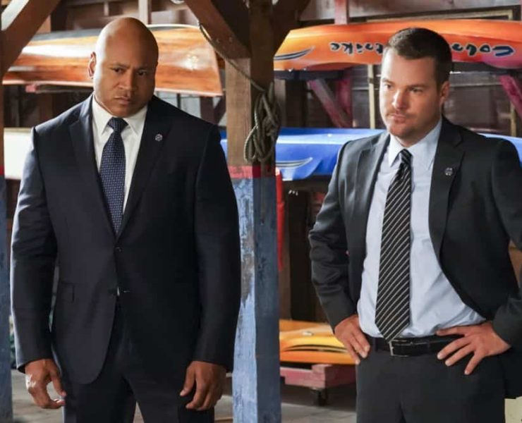 """""""The Prince"""" -- Pictured: LL COOL J (Special Agent Sam Hanna) and Chris O'Donnell (Special Agent G. Callen). Callen and Sam are assigned protection duty for Deputy Crown Prince Kamal (Ritesh Rajan) after an unknown assassin targets his decoy upon his arrival in Los Angeles, on NCIS: LOS ANGELES, Sunday, Oct. 14 (9:30-10:30 PM, ET/9:00-10:00 PM, PT) on the CBS Television Network. Photo: Monty Brinton/CBS ©2018 CBS Broadcasting, Inc. All Rights Reserved."""