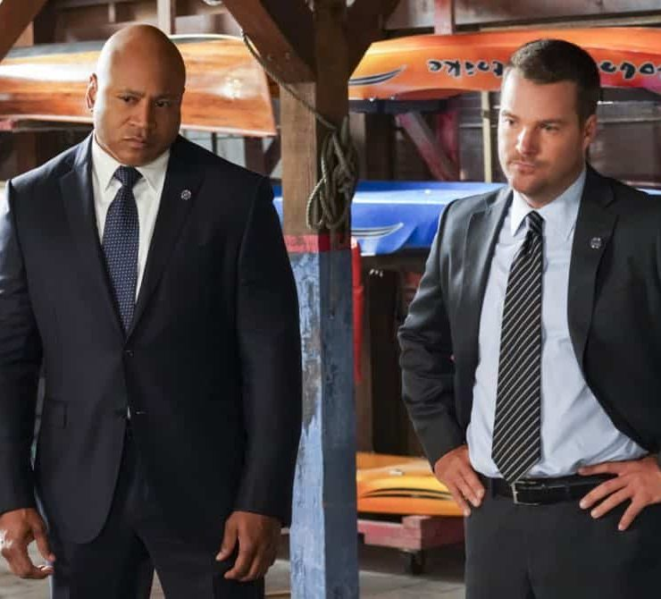 """The Prince"" -- Pictured: LL COOL J (Special Agent Sam Hanna) and Chris O'Donnell (Special Agent G. Callen). Callen and Sam are assigned protection duty for Deputy Crown Prince Kamal (Ritesh Rajan) after an unknown assassin targets his decoy upon his arrival in Los Angeles, on NCIS: LOS ANGELES, Sunday, Oct. 14 (9:30-10:30 PM, ET/9:00-10:00 PM, PT) on the CBS Television Network. Photo: Monty Brinton/CBS ©2018 CBS Broadcasting, Inc. All Rights Reserved."