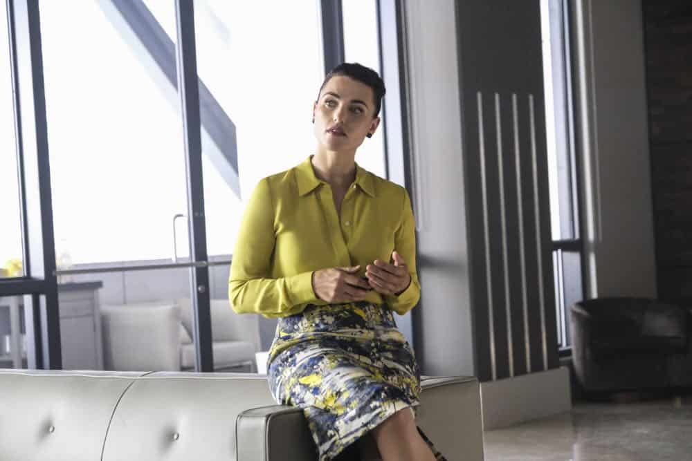 "Supergirl -- ""American Alien"" -- Image Number: SPG401a_0063b.jpg -- Pictured: Katie McGrath as Lena Luther -- Photo: Bettina Strauss/The CW -- © 2018 The CW Network, LLC. All Rights Reserved."