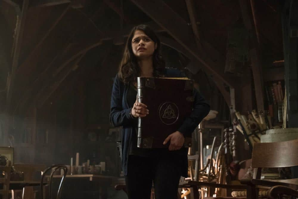 """Charmed -- """"Pilot""""-- Image Number: CMD101c_0559.jpg -- Pictured: Melonie Diaz as Mel Vera -- Photo: Katie Yu/The CW -- © 2018 The CW Network, LLC. All Rights Reserved."""