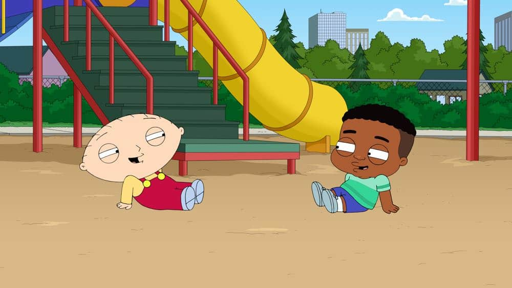 """FAMILY GUY: To Stewie's surprise, he quickly befriends a boy his age, but is devastated when he realizes he isn't invited to his birthday party. Meanwhile, Peter and Lois attend a self-empowerment seminar in the all-new """"Pal Stewie"""" episode of FAMILY GUY airing Sunday, Oct. 14 (9:00-9:30 PM ET/PT) on FOX.. FAMILY GUY ™ and © 2018 TCFFC ALL RIGHTS RESERVED. CR: FOX"""