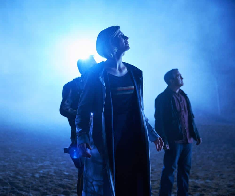 Picture shows: Epzo (SHAUN DOOLEY), The Doctor (JODIE WHITTAKER), Graham (BRADLEY WALSH).