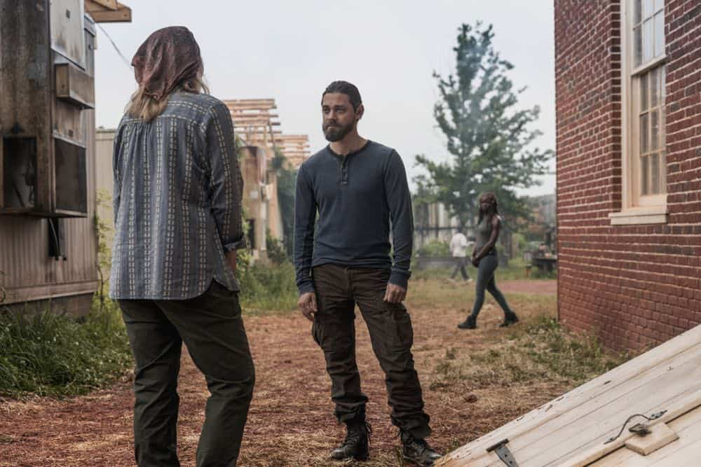 Brett Butler as Tammy Rose, Tom Payne as Paul 'Jesus' Rovia - The Walking Dead _ Season 9, Episode 2 - Photo Credit: Jackson Lee Davis/AMC