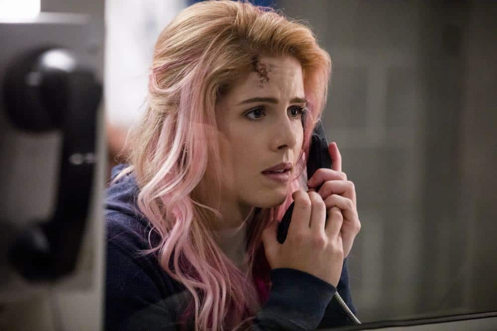 "Arrow -- ""Inmate #4587"" -- Image Number: AR701A_0065b.jpg -- Pictured: Emily Bett Rickards as Felicity Smoak -- Photo: Jack Rowand/The CW -- © The CW Network, LLC. All rights reserved."