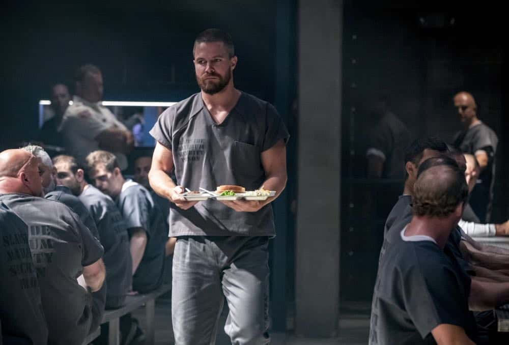 "Arrow -- ""Inmate #4587"" -- Image Number: AR701B_0060b.jpg -- Pictured: Stephen Amell as Oliver Queen/Green Arrow -- Photo: Jack Rowand/The CW -- © The CW Network, LLC. All rights reserved."