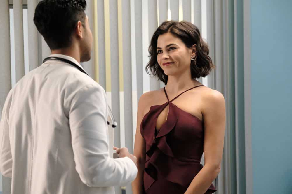 """THE RESIDENT: Guest star Jenna Dewan in the """"About Time"""" episode of THE RESIDENT airing Monday, Oct. 15 (8:00-9:00 PM ET/PT) on FOX. ©2018 Fox Broadcasting Co. Cr: Guy D'AlemaFOX."""