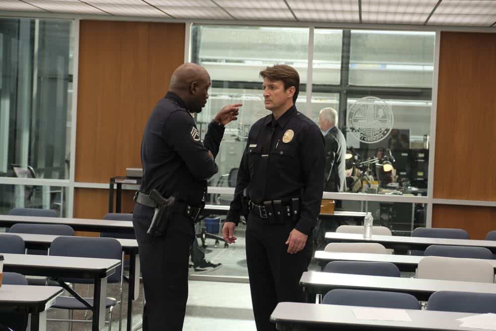 "THE ROOKIE - ""Pilot"" - Starting over isn't easy, especially for small-town guy John Nolan who, after a life-altering incident, is pursuing his dream of being a police officer, on the premiere episode of ""The Rookie,"" airing TUESDAY, OCT. 16 (10:00-11:00 p.m. EDT), on The ABC Television Network. (ABC/Tony Rivetti)"